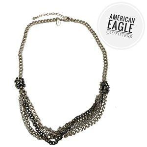American Eagle Silver Multi-Chain Necklace